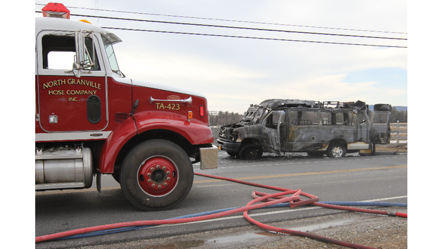 Police: Driver, passerby save wheelchair bound man from burning van