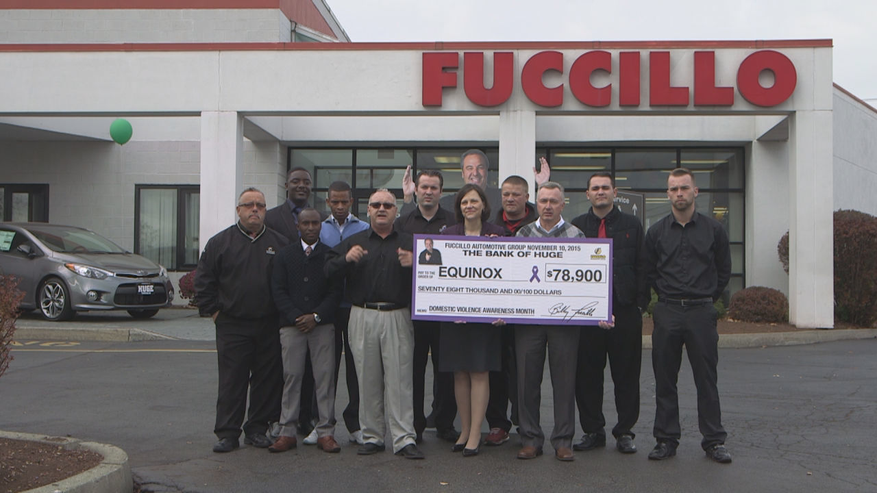 Fuccillo Kia Makes Domestic Violence Donation