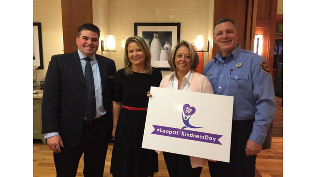 Leap of Kindness Day with NEWS10 ABC's Heather Kovar