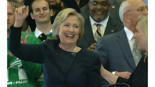 Hillary Clinton talks equality, national safety during campaign at Cohoes HS