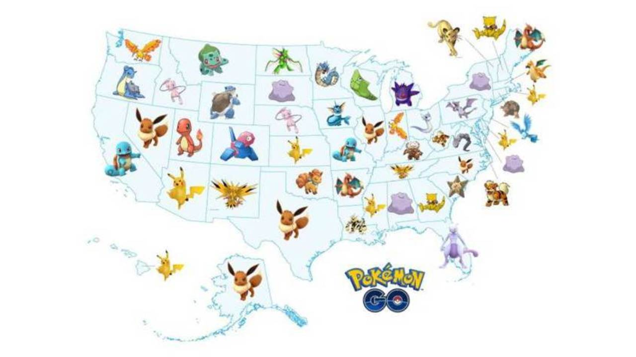 Most Sought Pokemon State By State