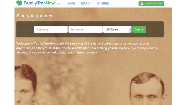 Your personal information is being publicly displayed on Family Tree Now