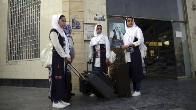Afghan girls robotics team arrives in US just in time, with help from Pres. Trump