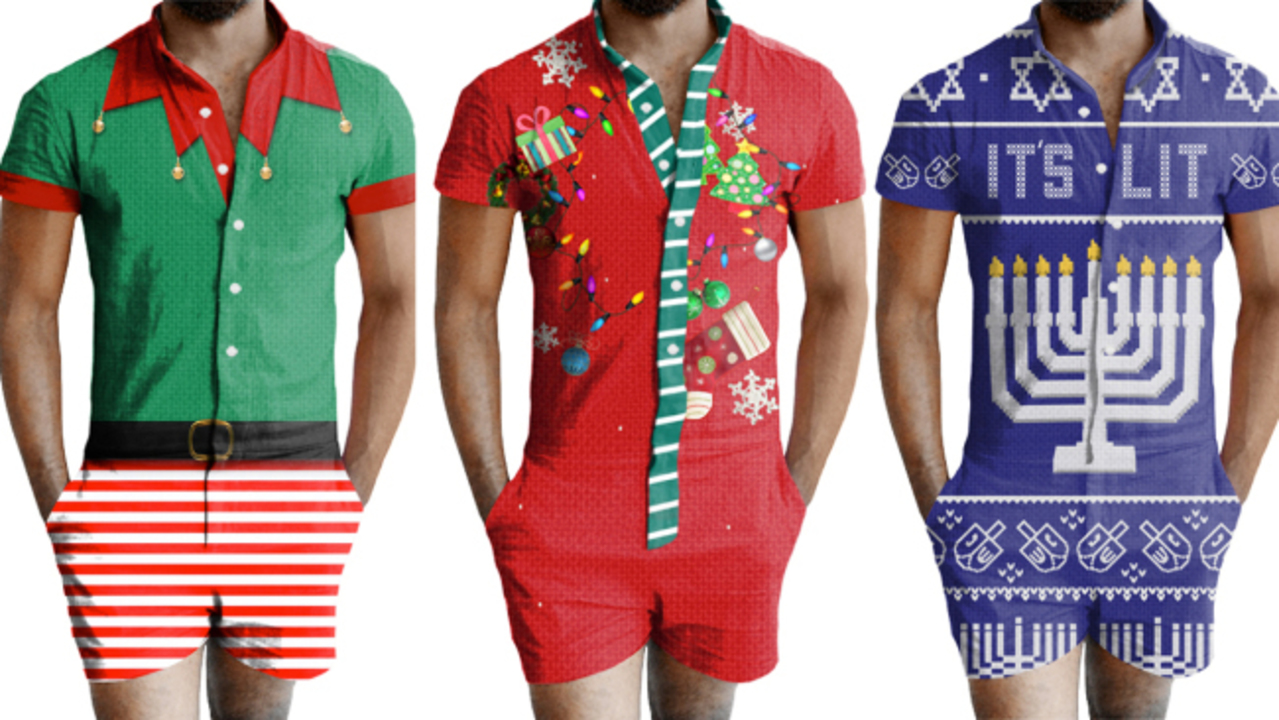 Ugly Christmas Rompers\' available for women and men this holiday season