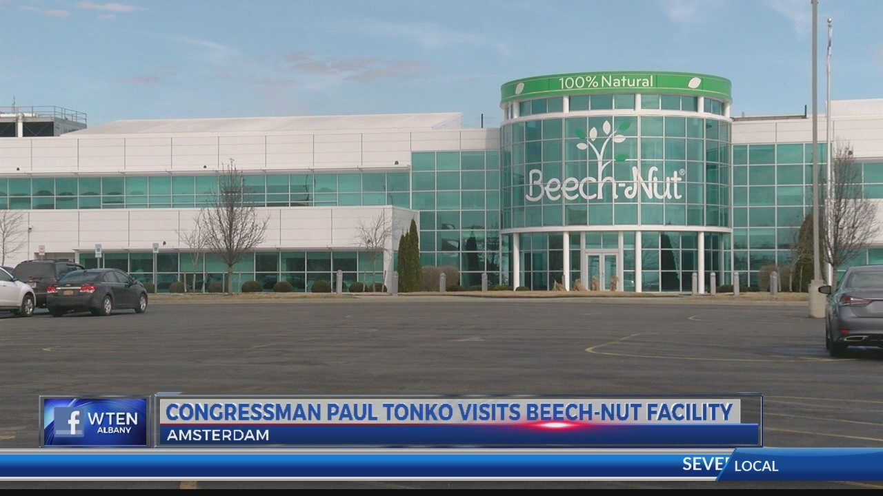 Congressman Tonko visits Beech-Nut facility to push for safe drinking water