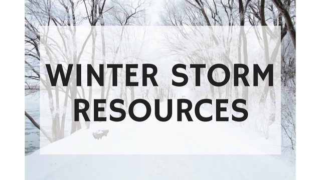 Winter storm resources, snow emergencies, event cancellations