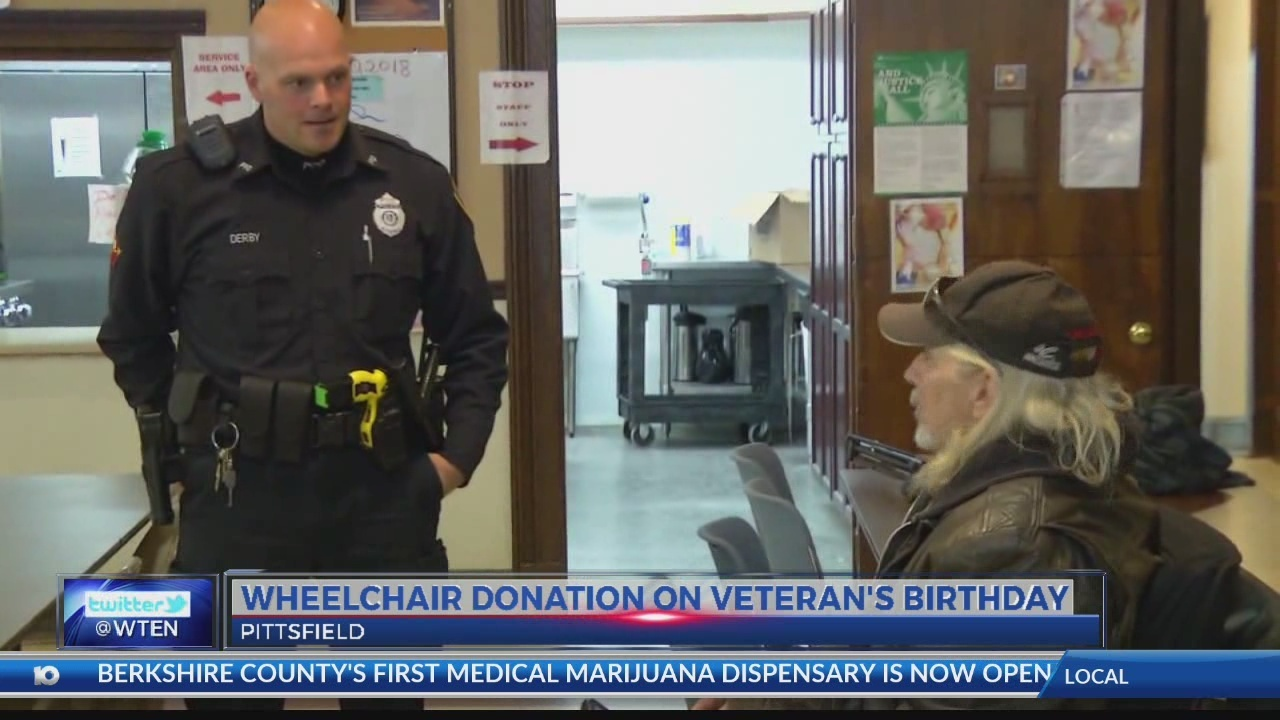 Pittsfield cop helps disabled vet receive wheelchair donation