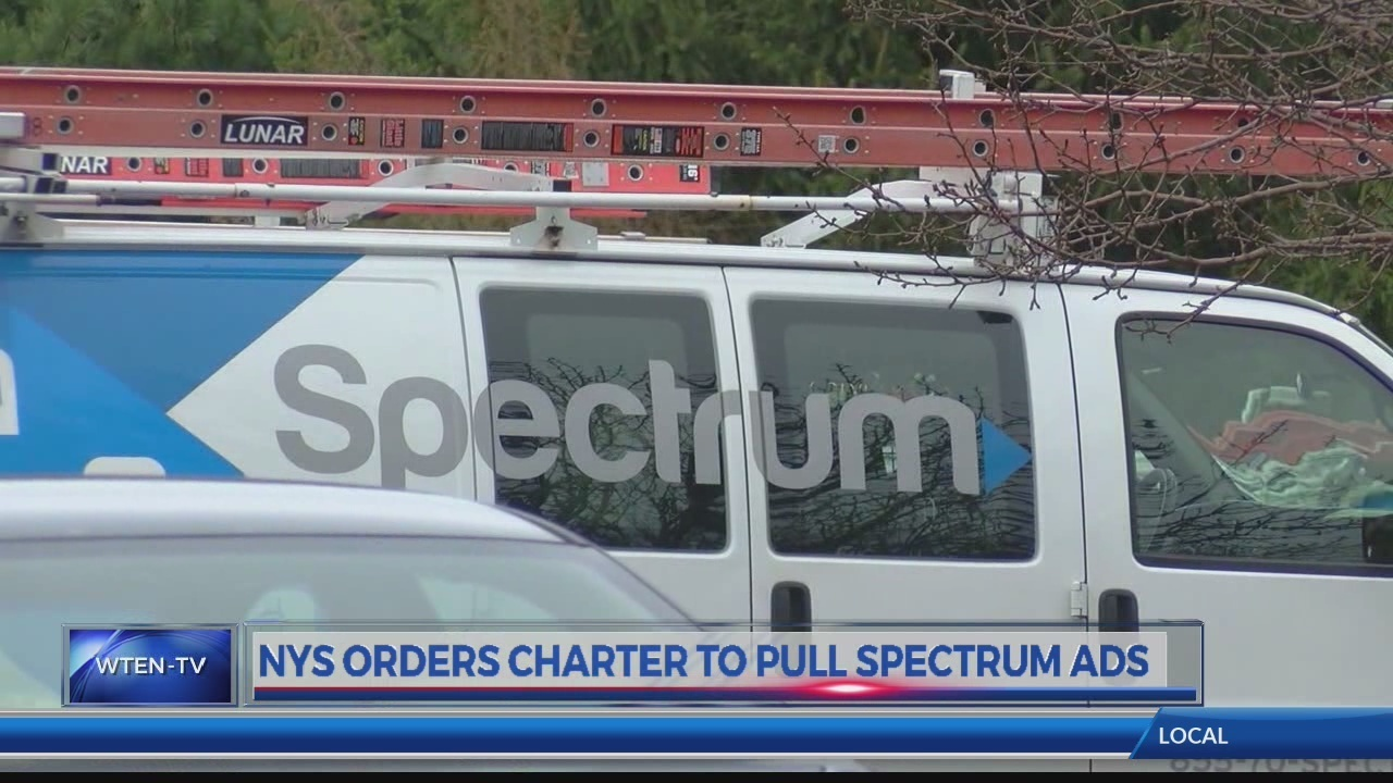 NY orders Charter to pull Spectrum ads