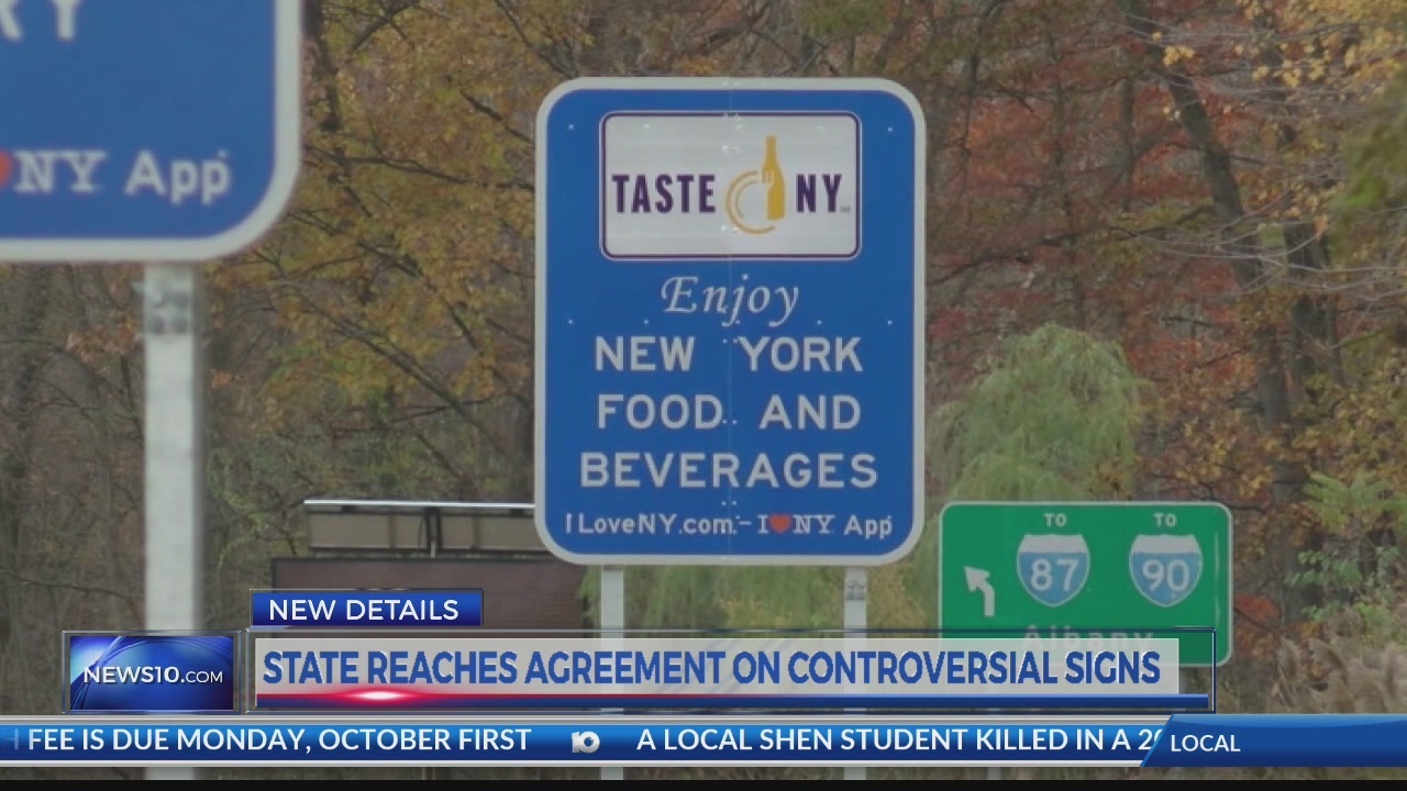 State Reaches Agreement On Controversial Signs