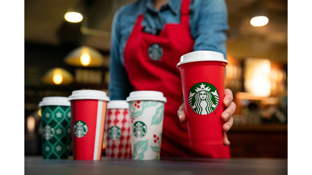 Starbucks Christmas Coffee Cups.Starbucks Unveils 2018 Holiday Cup Designs In Stores Nov 2