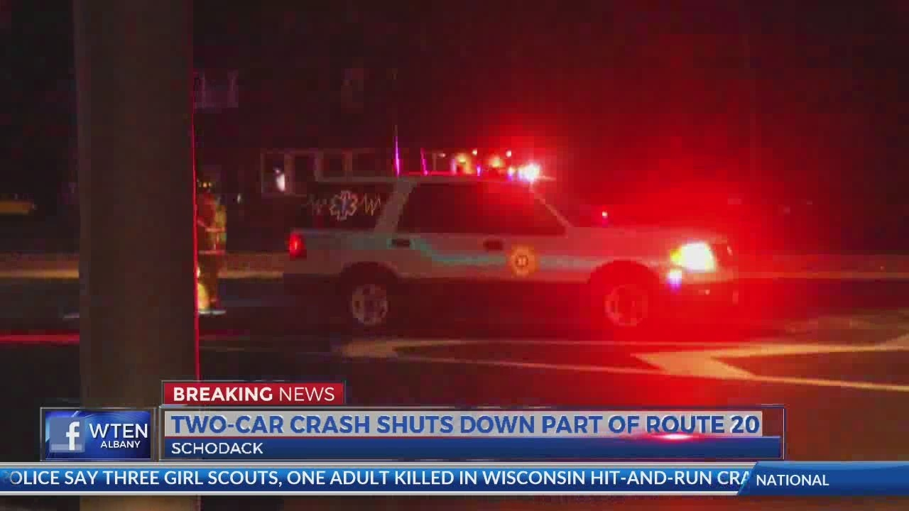 one killed in two-car crash on route 20 in schodack