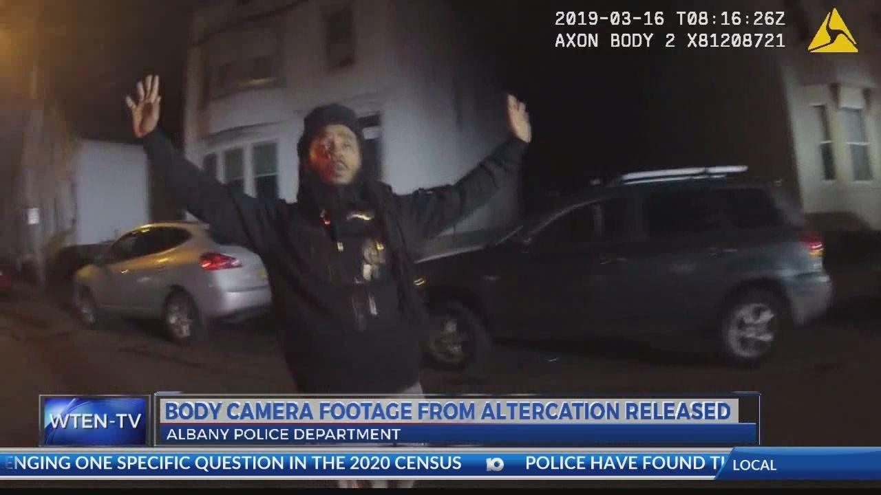 body cam footage released from albany police altercation
