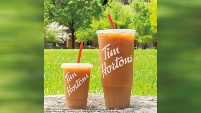 Tim Hortons offers free 'Mom-sized' iced coffee for Mother's Day